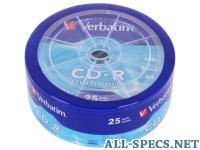 Verbatim CD-R 700Mb 52x 25шт Shrink 580256